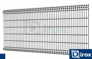 Panel Ogrodzeniowy H 123cm 4mm RAL 9005